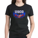 USCG Heart Flag Women's Dark T-Shirt