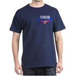 USCG Heart Flag Dark T-Shirt