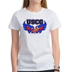 USCG Heart Flag Women's T-Shirt