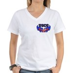 USCG Heart Flag Women's V-Neck T-Shirt