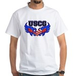 USCG Heart Flag White T-Shirt