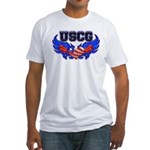 USCG Heart Flag Fitted T-Shirt