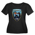 USS NICH Women's Plus Size Scoop Neck Dark T-Shirt