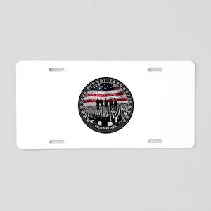 Fallen Heroes Aluminum License Plate