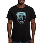 USS NICHOLAS Men's Fitted T-Shirt (dark)