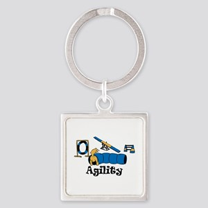 Agility Square Keychain