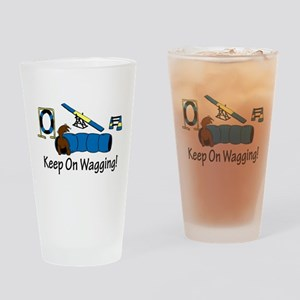 Agility Dog Brown Drinking Glass