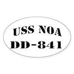 USS NOA Sticker (Oval)
