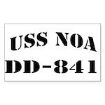 USS NOA Sticker (Rectangle)