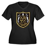 USS NOA Women's Plus Size V-Neck Dark T-Shirt