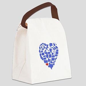 Washington Heart Canvas Lunch Bag