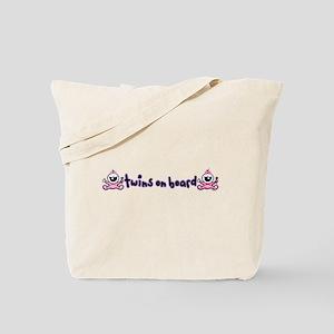Twin Girls on Board Tote Bag