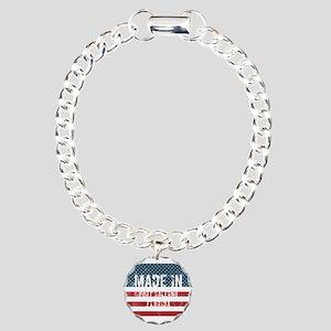 Made in Port Salerno, Fl Charm Bracelet, One Charm