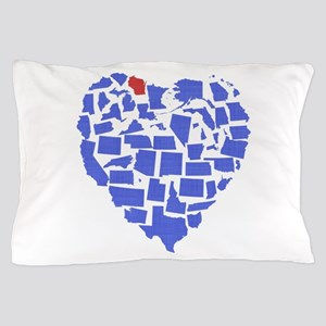 Wisconsin Heart Pillow Case