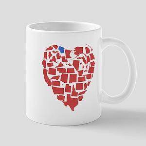 Wisconsin Heart Mug