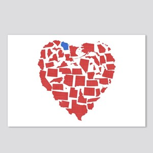 Wisconsin Heart Postcards (Package of 8)
