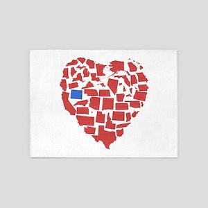 Wyoming Heart 5'x7'Area Rug