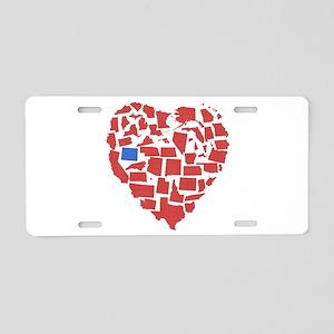 Wyoming Heart Aluminum License Plate
