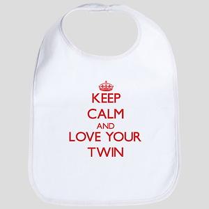 Keep Calm and Love your Twin Bib