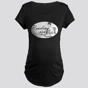 Reading is Sexy - nude Maternity Dark T-Shirt
