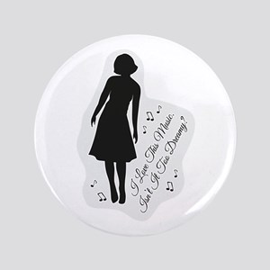 """Isn't It Too Dreamy? Audrey - Twin Pea 3.5"""" Button"""