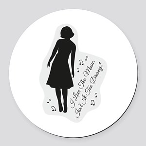 Isn't It Too Dreamy? Audrey - Twi Round Car Magnet