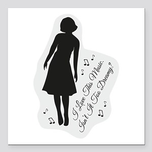 "Isn't It Too Dreamy? Aud Square Car Magnet 3"" x 3"""