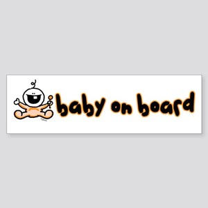 Baby on Board orange Bumper Sticker