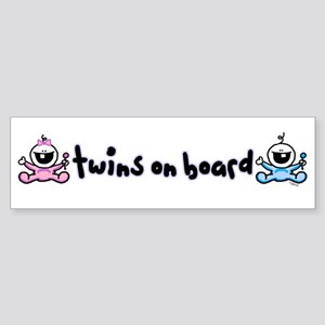 Twins on Board 2 Bumper Sticker