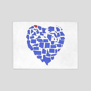 South Carolina Heart 5'x7'Area Rug