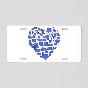 South Carolina Heart Aluminum License Plate