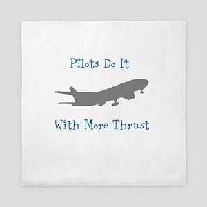 pilots do it with more thrust Queen Duvet