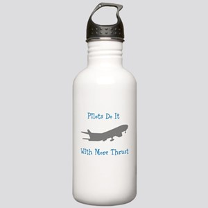 pilots do it with more thrust Water Bottle