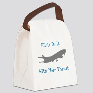 pilots do it with more thrust Canvas Lunch Bag