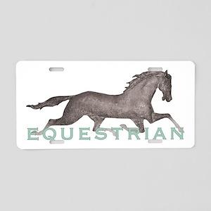 11x11_pillowequestrian2 Aluminum License Plate