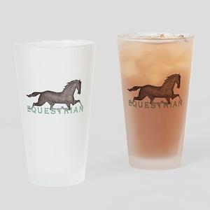 11x11_pillowEquestrian2 Drinking Glass