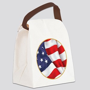 Gold Ring American Flag Canvas Lunch Bag