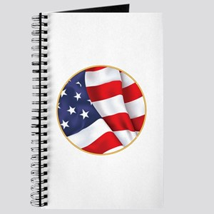 Gold Ring American Flag Journal