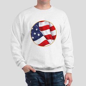 Gold Ring American Flag Sweatshirt