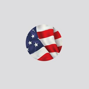 Gold Ring American Flag Mini Button