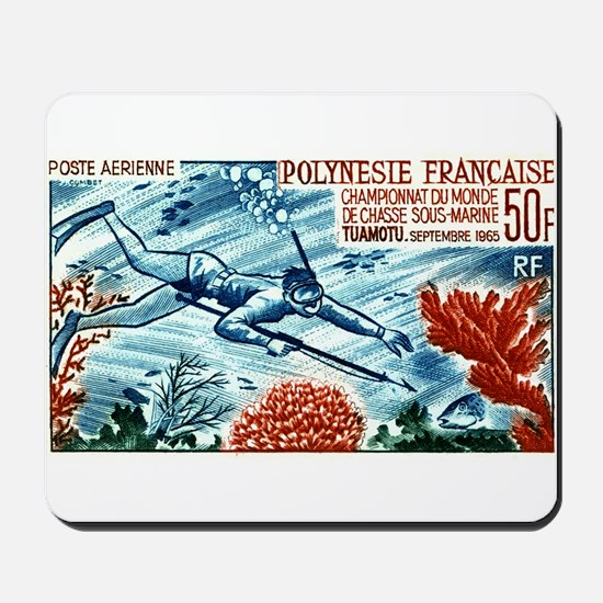 1965 French Polynesia Spearfishing Postage Stamp M