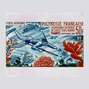 1965 French Polynesia Spearfishing Postage Stamp T