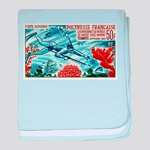 1965 French Polynesia Spearfishing Postage Stamp b