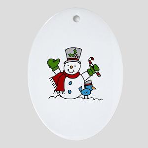 Christmas Hugs Ornament (Oval)