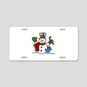 Christmas Hugs Aluminum License Plate