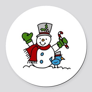 Christmas Hugs Round Car Magnet