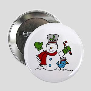 """Christmas Hugs 2.25"""" Button"""
