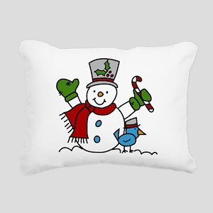 Christmas Hugs Rectangular Canvas Pillow
