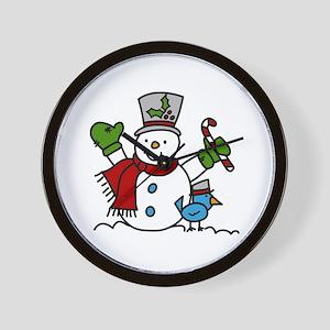 Christmas Hugs Wall Clock