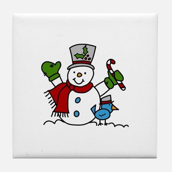 Christmas Hugs Tile Coaster